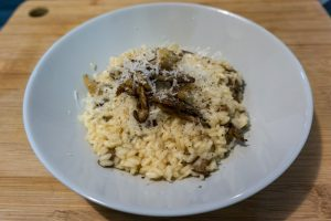 Easy mushroom risotto without wine!