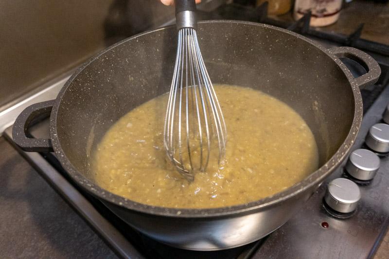 Whisking your lentil soup