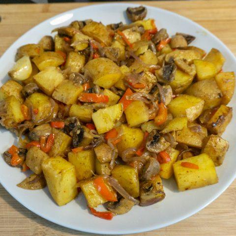 Homemade mushroom ojakhuri