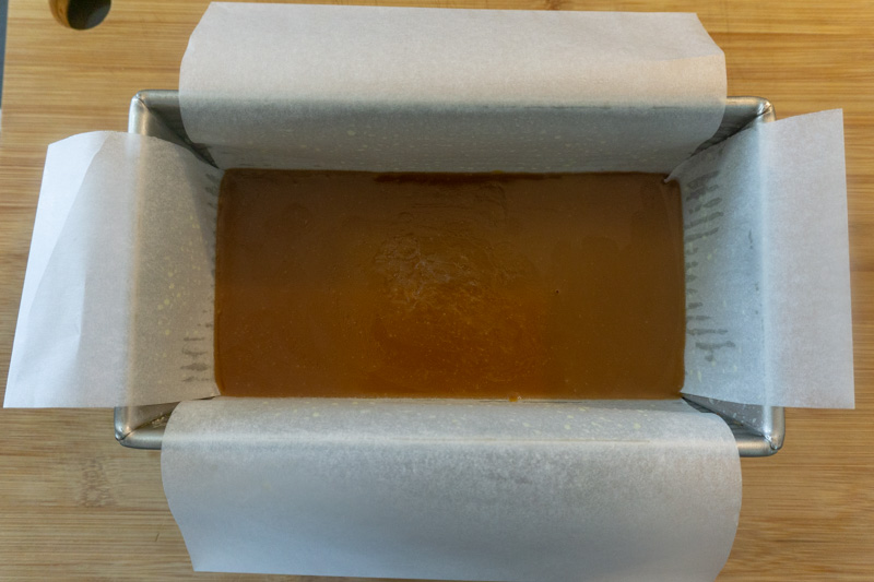 Cooling the caramel