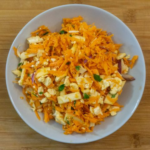 Carrot & Cauliflower Coleslaw without Cabbage or Mayo