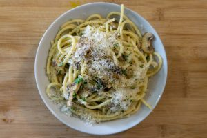 Easy Creamy Mushroom Bucatini Recipe