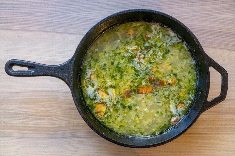 Leek & Potato soup ready to serve!
