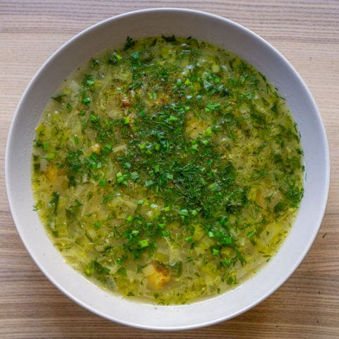 Vegan Leek & Potato Soup Without Cream